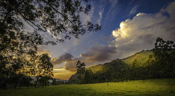 Sunset At Cocora Poster