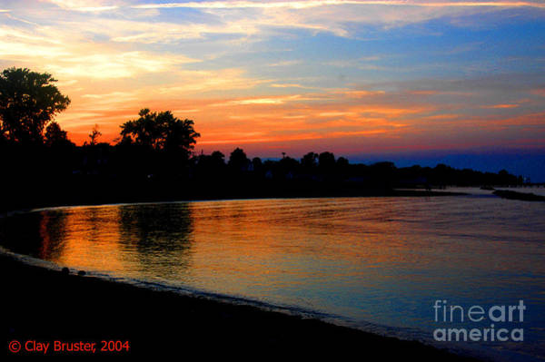 Sunset At Colonial Beach Cove Poster