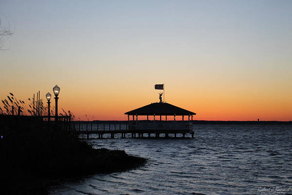 Sunset At Fagers Island Gazebo Poster