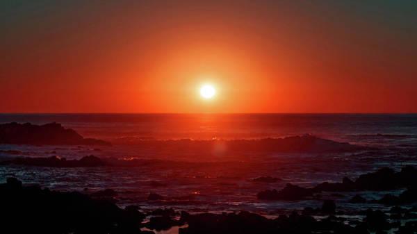 Sunset At Monterey Poster