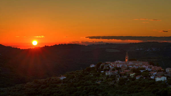 Sunset At Padna Poster