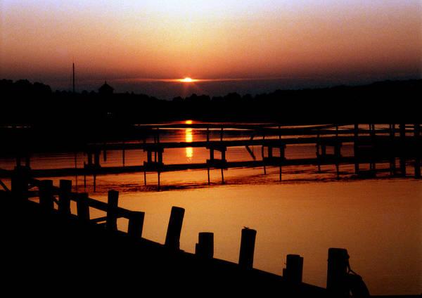 Sunset At Smithfield Station Poster