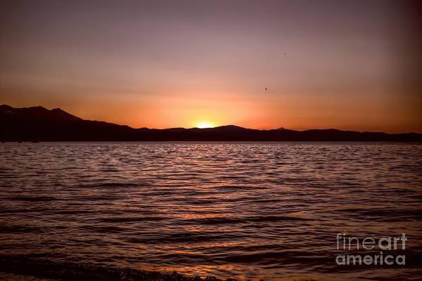 Sunset At The Lake 2 Poster