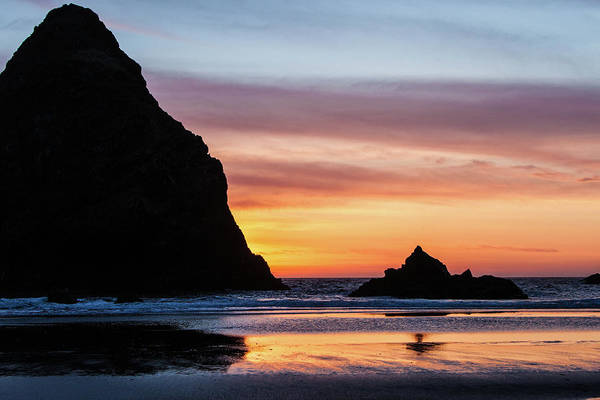 Sunset At Whalehead Beach Poster