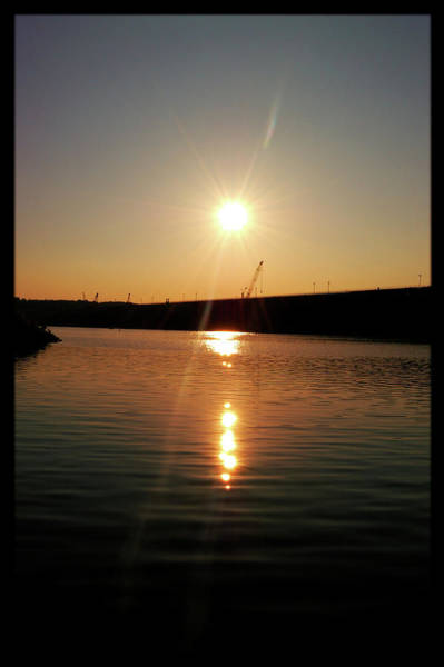Sunset At Wolf Creek Dam Poster