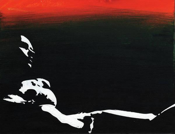 Sunset Bathing  Poster