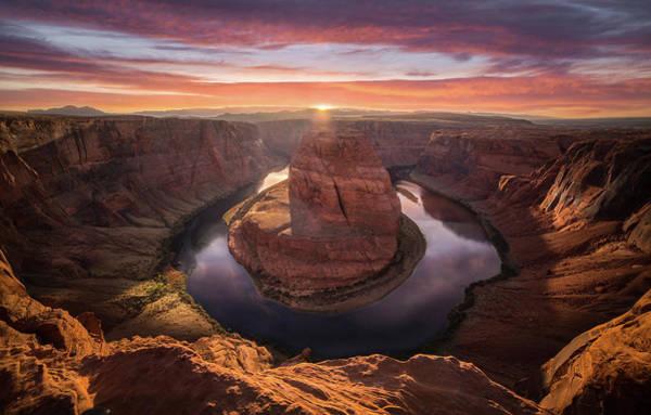 Sunset Blossom // Horseshoe Bend // Arizona   Poster