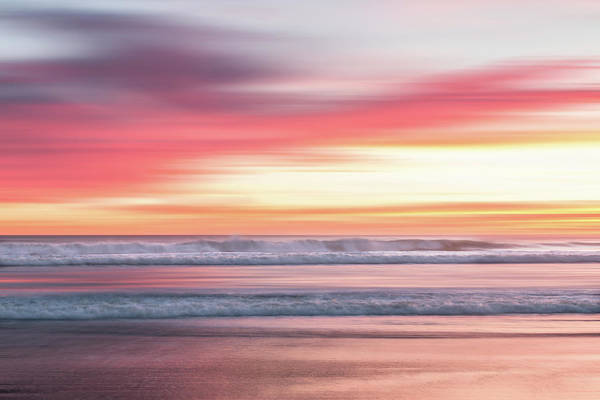 Poster featuring the photograph Sunset Blur - Pink by Patti Deters