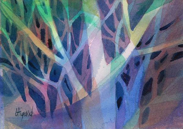Poster featuring the painting Sunset Branches by Carolyn Utigard Thomas