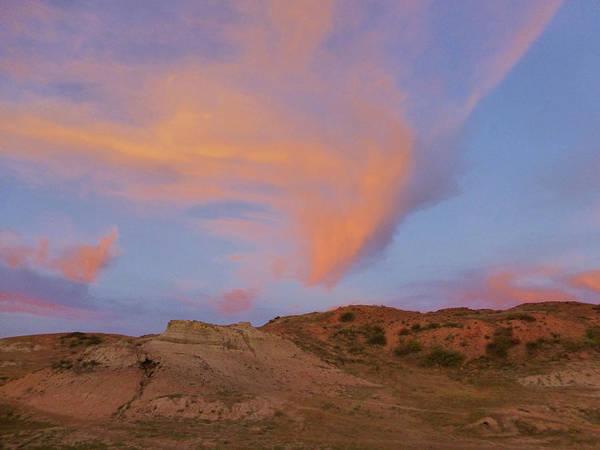 Sunset Clouds, Badlands Poster