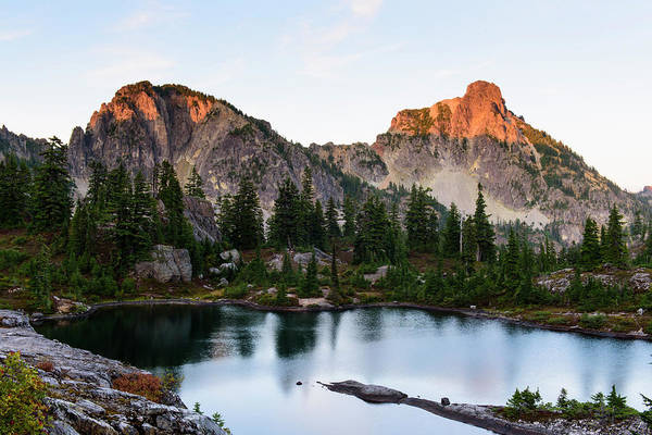 Sunset In Lila Lakes And High Box Mountain Poster