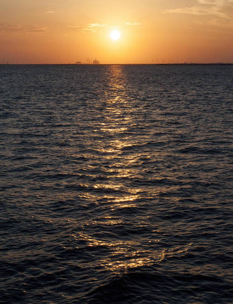 Sunset On Bay Poster