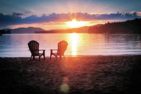 Sunset On Fourth Lake Poster