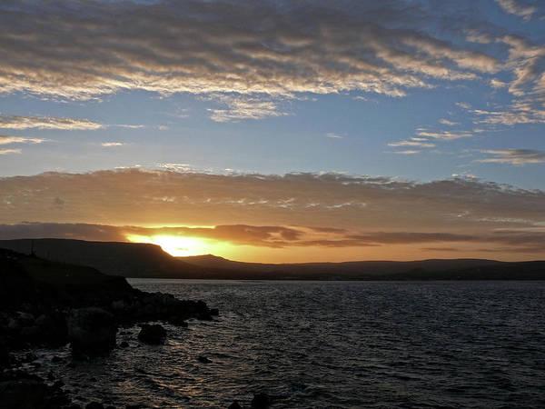 Sunset On The Antrim Coast Road. Poster