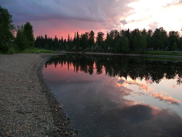 Sunset On The Chena River Poster