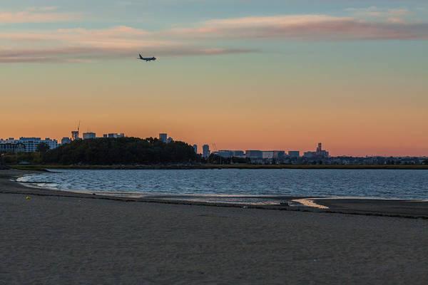 Sunset On Wollaston Beach In Quincy Massachusetts Poster