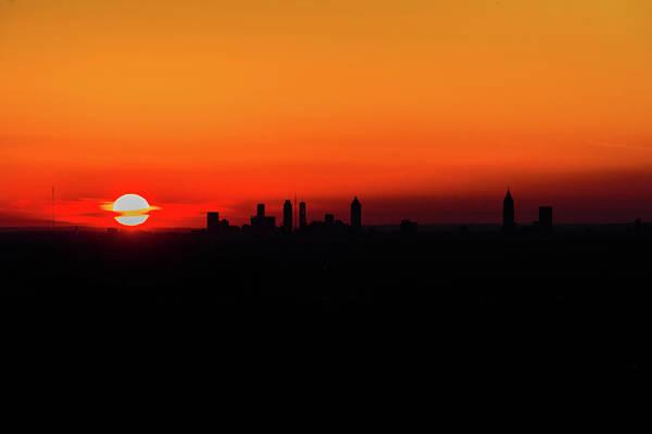 Sunset Over Atlanta Poster