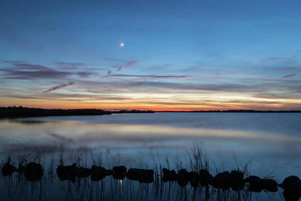 Sunset Over Back Bay Poster