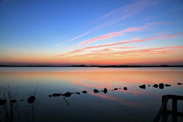 Sunset Over Back Bay National Wildlife Refuge Poster