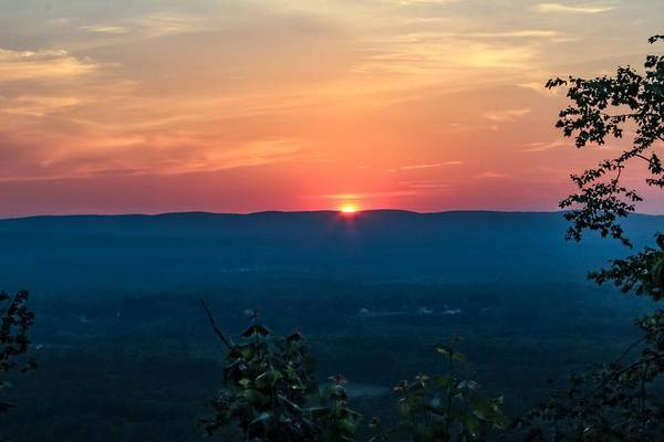 Sunset Over Easthampton Poster