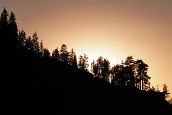 Sunset Over Glacier Point Poster