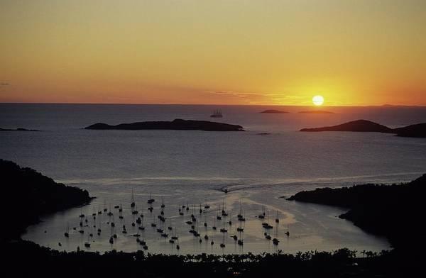 Sunset Over Great Cruz Bay Poster