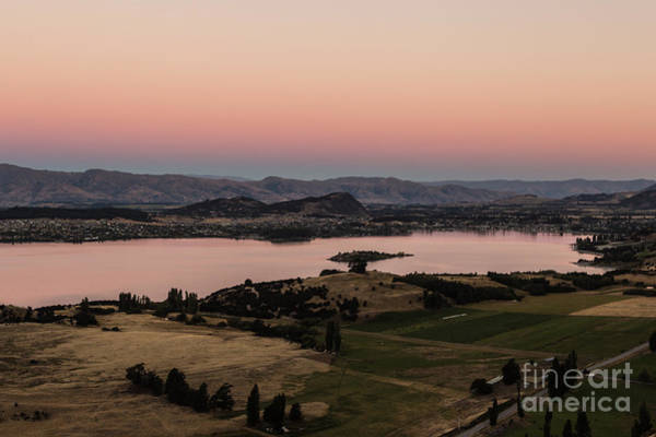 Sunset Over Lake Wanaka In New Zealand Poster