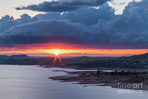 Sunset Over Millerton Lake  Poster