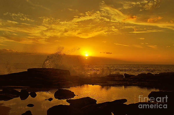 Sunset Over Oahu Hawaii  Poster