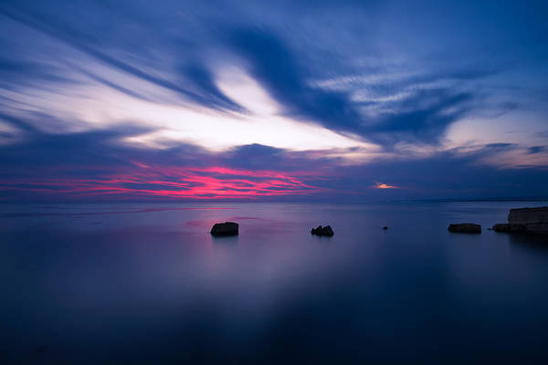 Poster featuring the photograph Sunset Over The Sea by Mirko Chessari