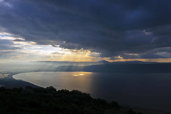 Sunset Over The Sea Of Galilee Poster