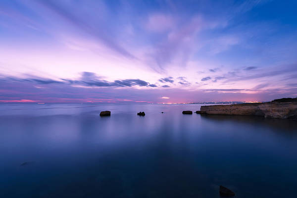 Poster featuring the photograph Sunset Over The Sicilian Sea by Mirko Chessari