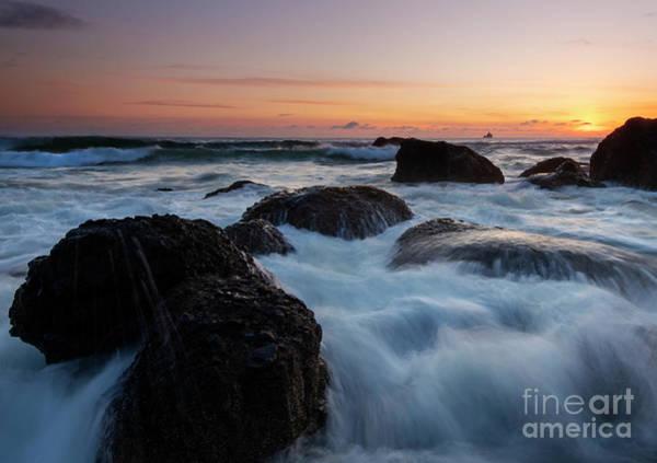 Sunset Tidal Surge Poster