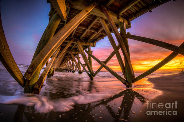 Sunset Under The Pier Poster