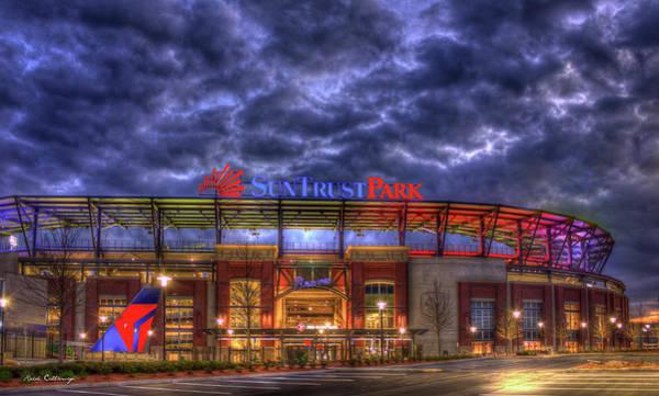 Suntrust Park Unfinished Atlanta Braves Baseball Art Poster