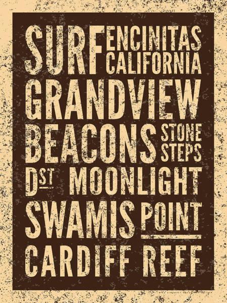 Surf Encinitas California Poster