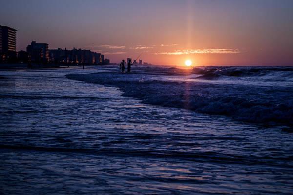 Surf Fishing At Sunrise Poster