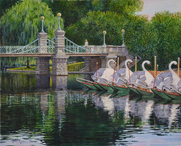 Swan Boats Boston Common Poster