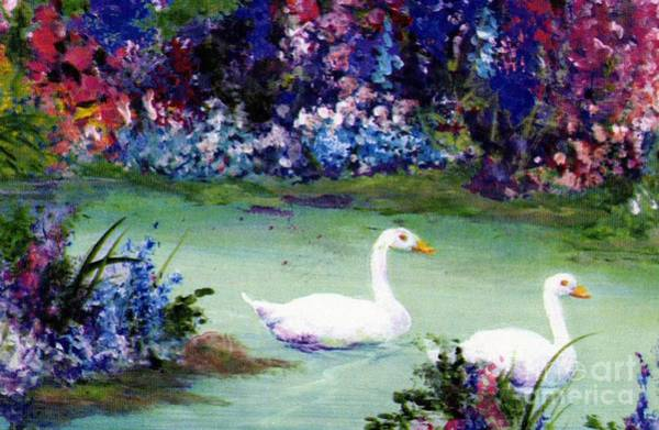 Poster featuring the mixed media Swan Lake by Writermore Arts