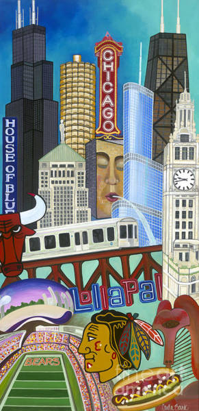 Poster featuring the painting Sweet Home Chicago by Carla Bank