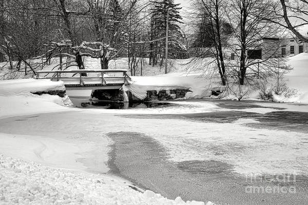Swimming Hole At Bristol Dam In Winter Poster