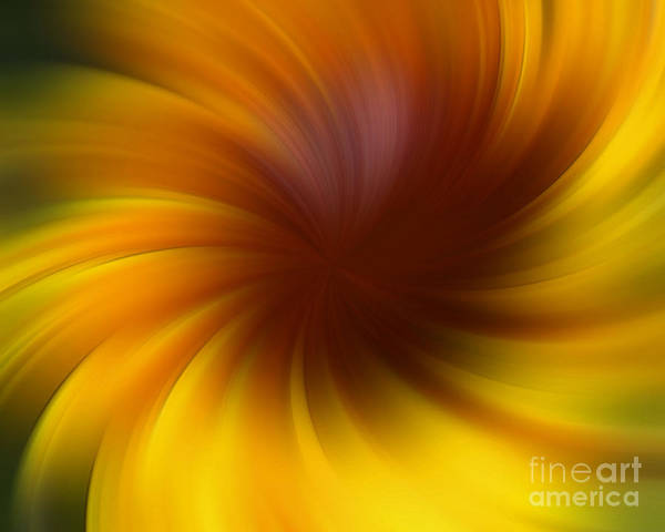 Swirling Yellow And Brown Poster
