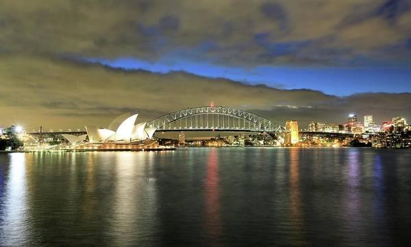 Sydney Harbor At Blue Hour Poster