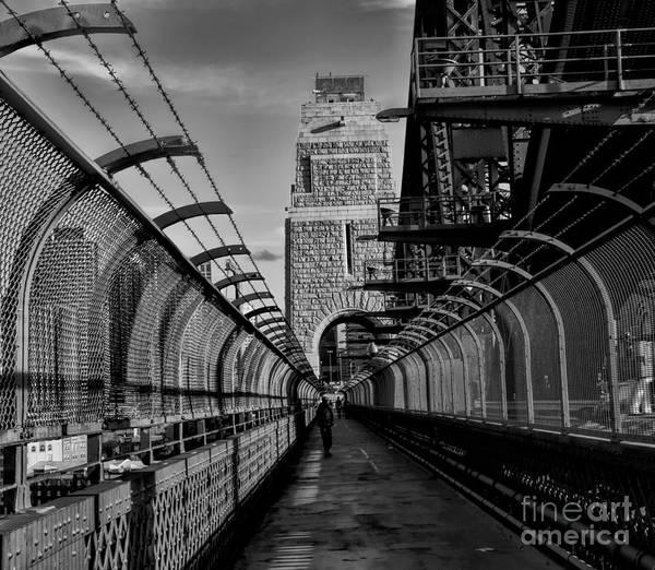 Sydney Harbor Bridge Bw Poster