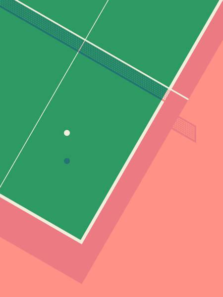 Table Tennis Ping Pong Table - Salmon Poster