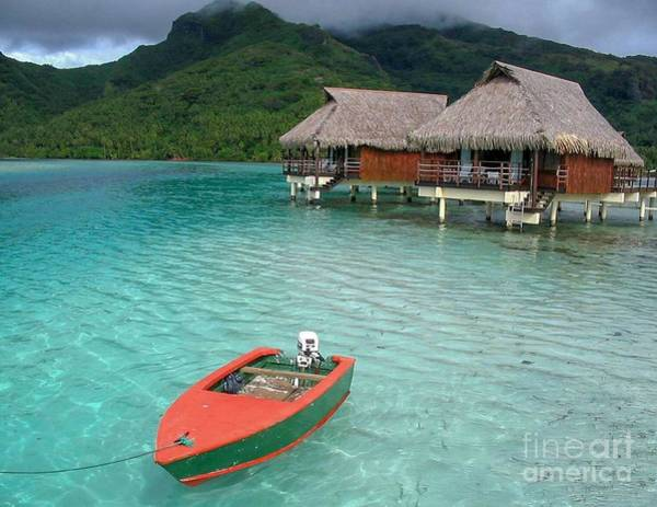 Tahitian Boat Poster