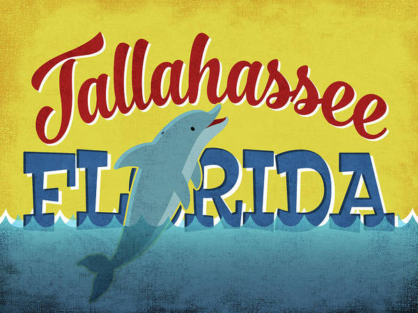 Tallahassee Florida Dolphin Poster