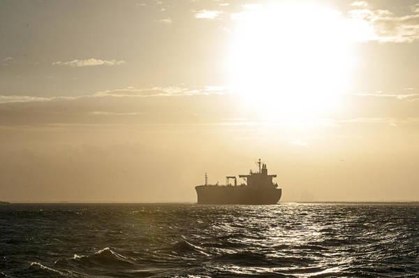 Tanker In Sun Poster