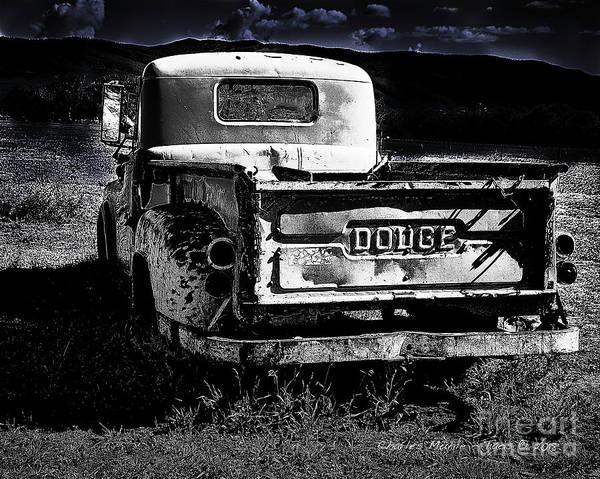 Taos Dodge B-w Poster