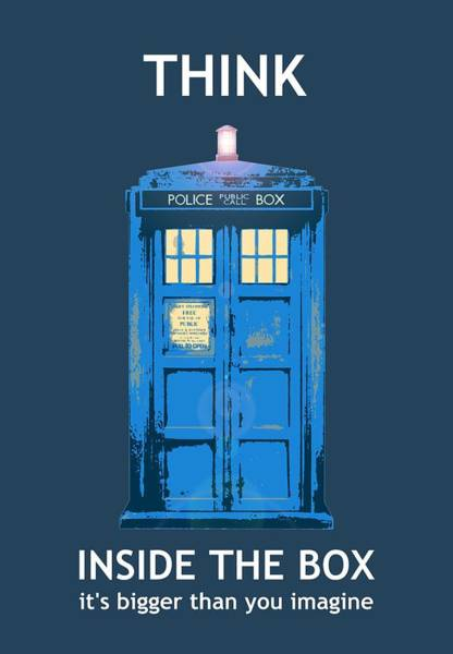 Tardis - Think Inside The Box Poster